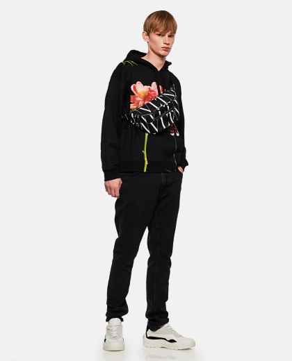 Cotton hoodie with Flowersity print Men Valentino 000264190039033 2