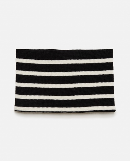Scarf with zip with horizontal stripes Men J.W. Anderson 000293380043206 2