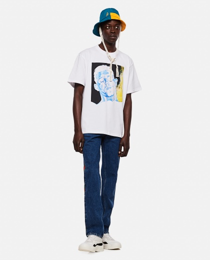 OVERSIZE T-SHIRT WITH PRINT Men J.W. Anderson 000293160043177 2