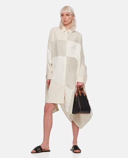 Oversized patchwork striped cotton dress Women Loewe 000307060045004 2