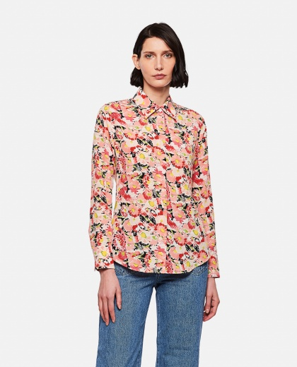 Camicia in seta floreale Donna Stella McCartney 000290630042798 1