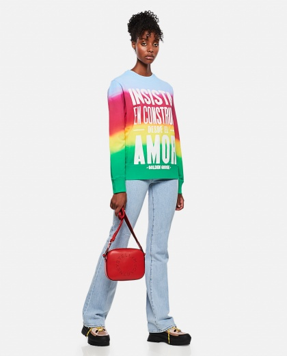 Athena tie-dye sweatshirt with print on the front Women Golden Goose 000256920038045 2