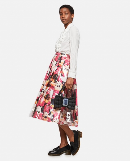 Minnie Mouse flared skirt with print Women Comme des Garcons 000316310046343 2