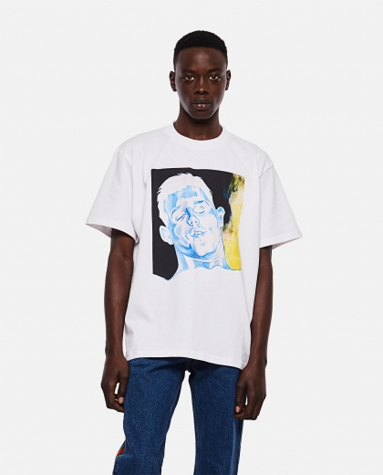 OVERSIZE T-SHIRT WITH PRINT Men J.W. Anderson 000293160043177 1