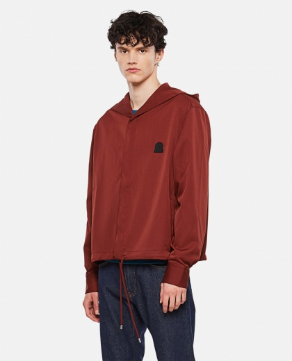 Sweatshirt with hood and buttons with logo patch Men Lanvin 000309430045388 1
