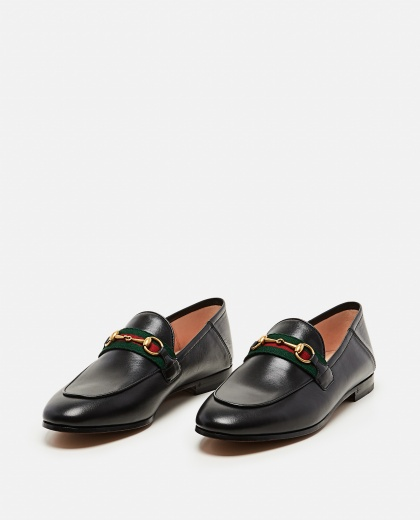 Moccasin with Web ribbon Women Gucci 000259340038369 2