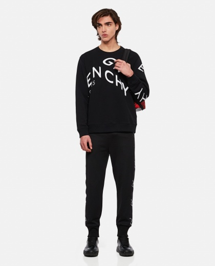 Refracted sweatshirt with embroidery Men Givenchy 000302000044348 2