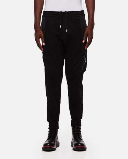 Sports trousers in cotton Men Alexander McQueen 000266290039303 1