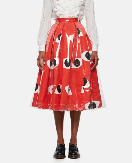 Circle skirt with print Women Comme des Garcons 000316300046342 1