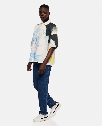 Polo with face print Men J.W. Anderson 000293110043170 2
