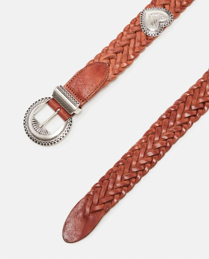 Hearts belt in woven leather with heart studs Women Golden Goose 000286380042261 2
