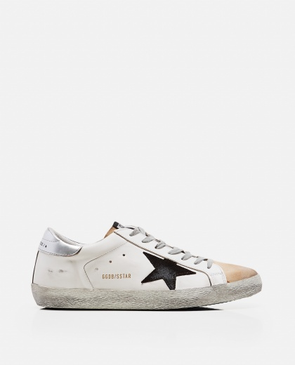 'Superstar' sneakers in leather and suede Men Golden Goose 000269220039688 1
