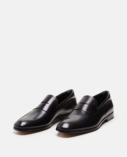 Slim black leather loafers Men Tod's 000221750032810 2