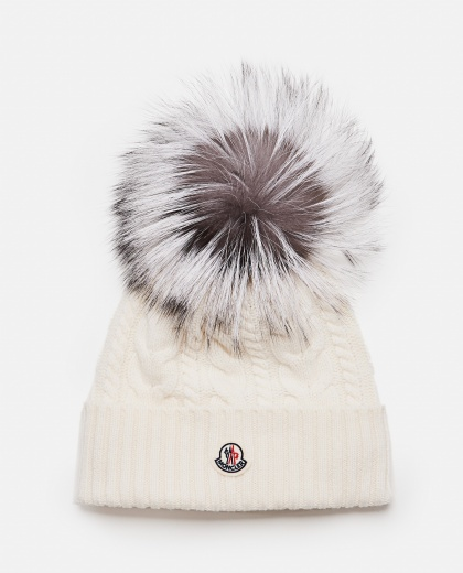 Cap with oversized pompom
