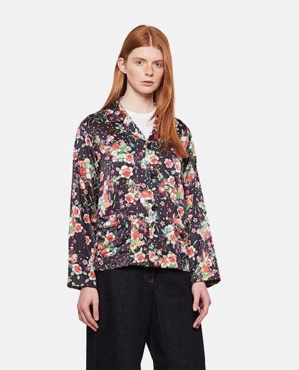 Giacca monopetto con stampa floreale Donna Comme des Garcons 000316170046324 1