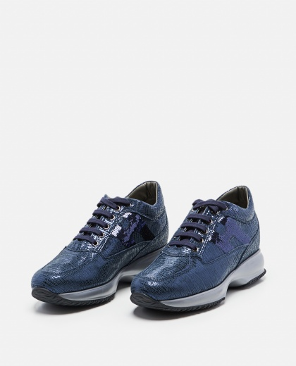 Interactive Blue Sneakers Women Hogan 000261720038726 2