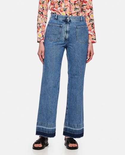 Bootleg jeans with raw hem Women J.W. Anderson 000288170042461 1