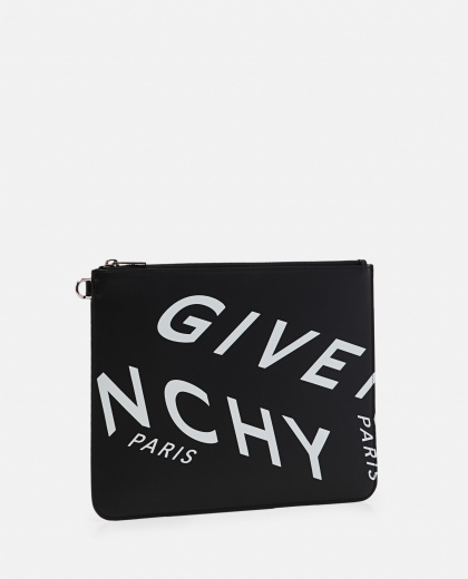 Clutch bag with GIVENCHY print Men Givenchy 000301640044301 2