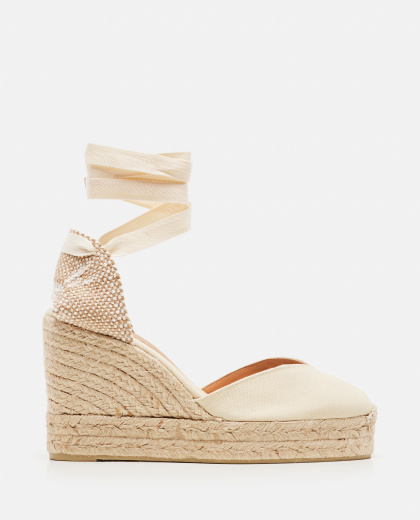 Chiara canvas espadrille with wedge of 11cm Women Castaner 000286100042220 1