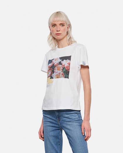 Ania Dream Maker Collection T-shirt with adhesive tape effect print Women Golden Goose 000286470042270 1