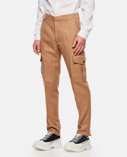 Beige wool trousers Men Alexander McQueen 000268750039625 1