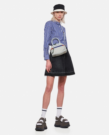 Shirt with back pleats and tulle inserts Women Sacai 000300980044219 2