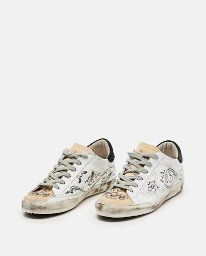 Super-Star sneakers with tattoo print Women Golden Goose 000256690037927 2