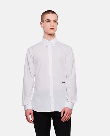 Stretch cotton poplin shirt, Men Givenchy 000226430033481 1