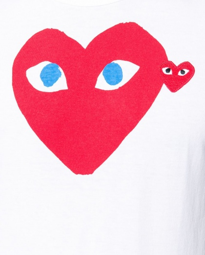 T-shirt with print Men Comme des Garcons Play 000107010016297 2