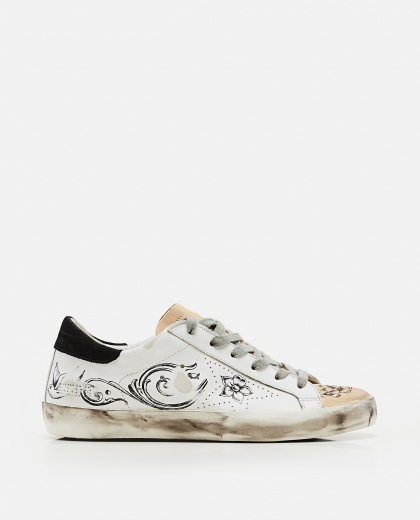Super-Star sneakers with tattoo print Women Golden Goose 000256690037927 1