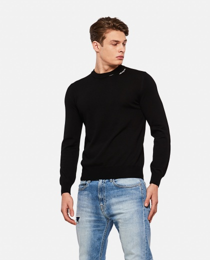 Wool pullover with embroidered logo patch Men Alexander McQueen 000215080031923 1