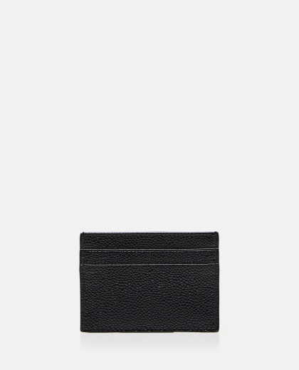PEBBLE GRAIN LEATHER DOUBLE SIDED CARD HOLDER  Men Thom Browne 000325670047585 2