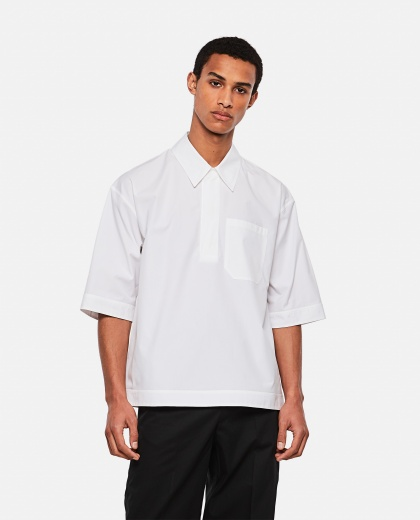 Cotton poplin polo shirt Men Valentino 000295160043408 1
