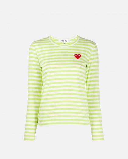 T-shirt with embroidery Women Comme des Garcons Play 000226030033429 1