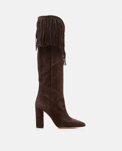 Boot with fringe