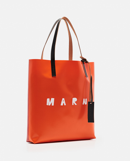 Tote bag with logo print Women Marni 000289870042700 2