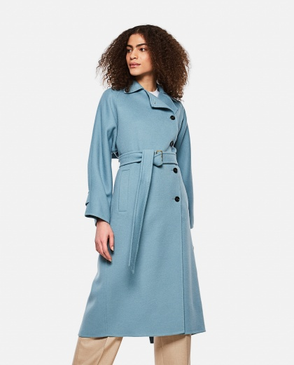 Osol  trench coat in camel wool Women Max Mara 000290290042747 1