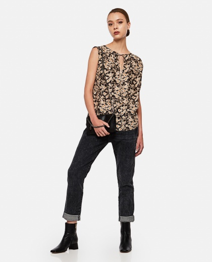 Printed silk top Women Stella McCartney 000280390041308 2