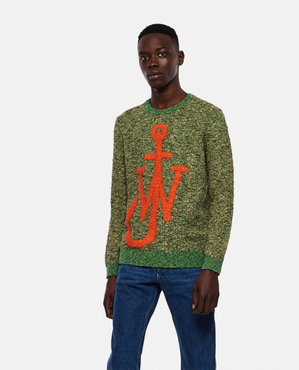 Knitted pullover with inlaid Anchor motif Men J.W. Anderson 000293170043180 1