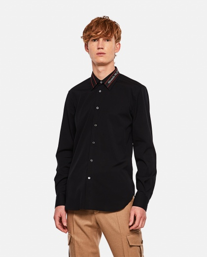 Long-sleeved logo shirt Men Alexander McQueen 000291020042845 1