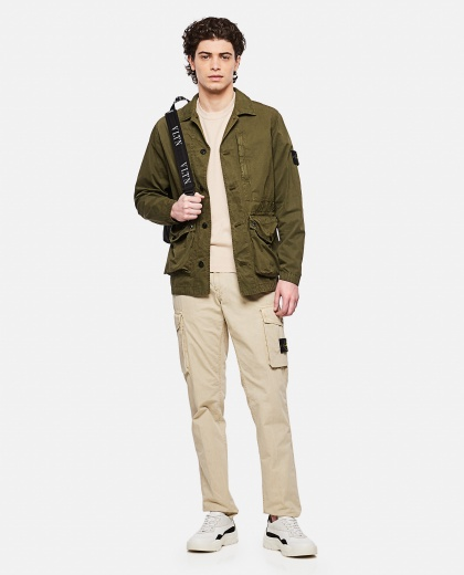 Brushed canvas jacket Uomo Stone Island 000292480043055 2