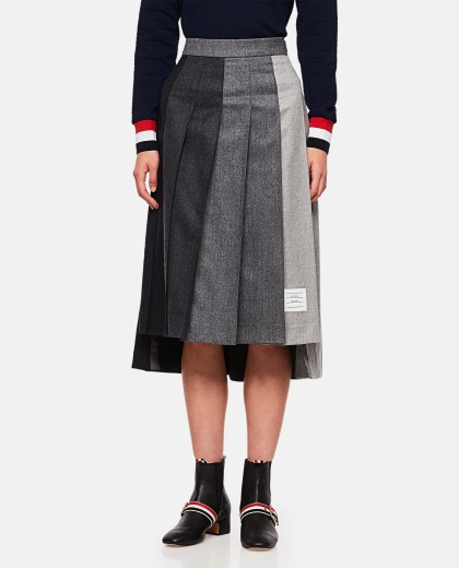 Pleated wool skirt  Women Thom Browne 000255080037672 1