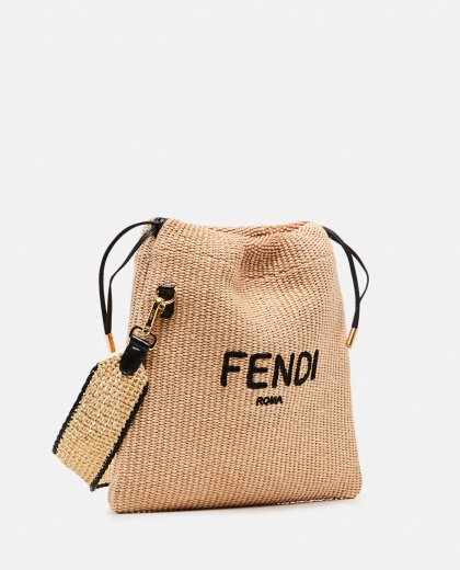 SMALL PACK embroidered straw bag Women Fendi 000310910045592 2