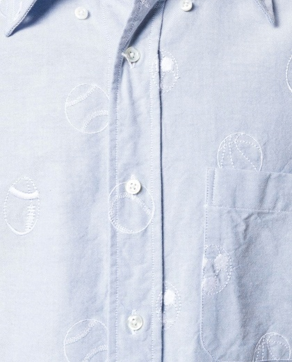 Shirt with embroidery Men Thom Browne 000223790033110 2