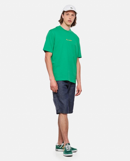 Lacoste Live Unisex loose fit cotton T-shirt with golden embroidery Men Lacoste 000297550043779 2
