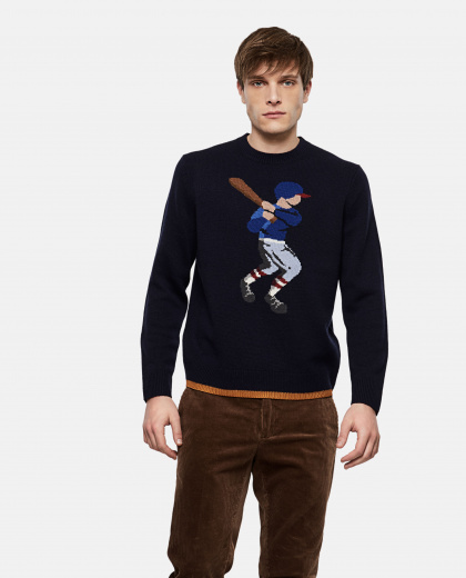 Baseball Player Sweater