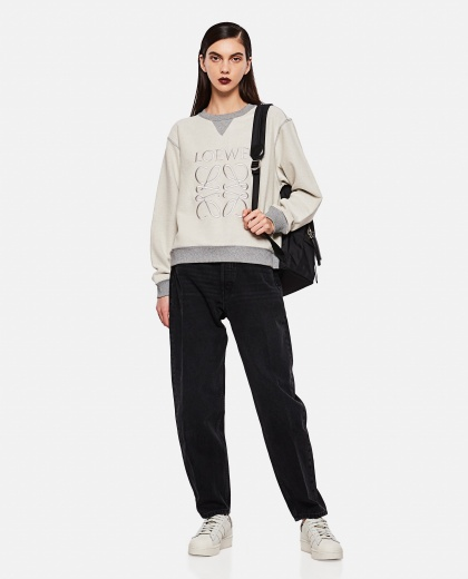 Sweatshirt with embroidered logo Women Loewe 000289240042583 2
