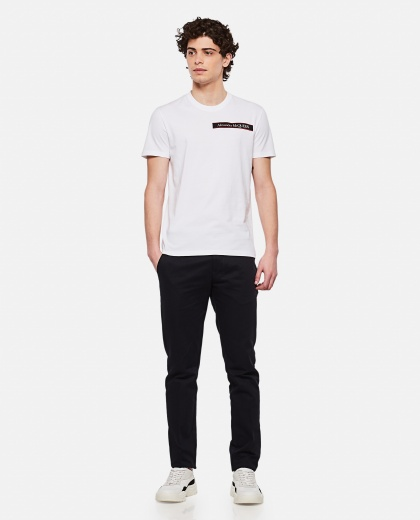 Cotton T-shirt with logo Men Alexander McQueen 000291080042855 2
