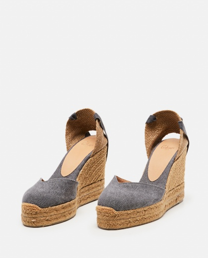 Chiara  canvas espadrille with wedge of 11cm  Women Castaner 000286080042217 2