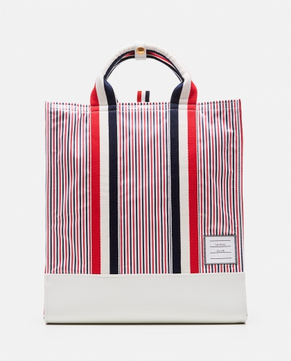Striped tote bag Men Thom Browne 000223630033085 1